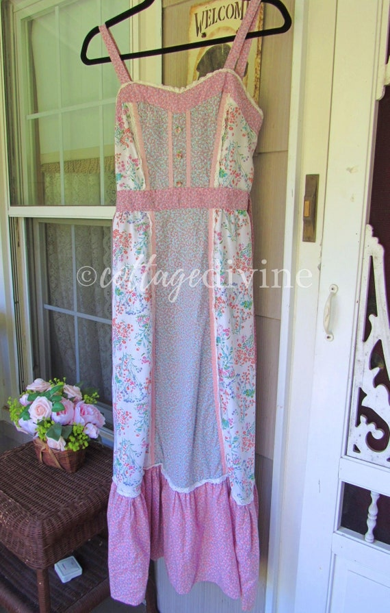 Patchwork Pink Calico Vintage Gunne Style 1970s P… - image 6