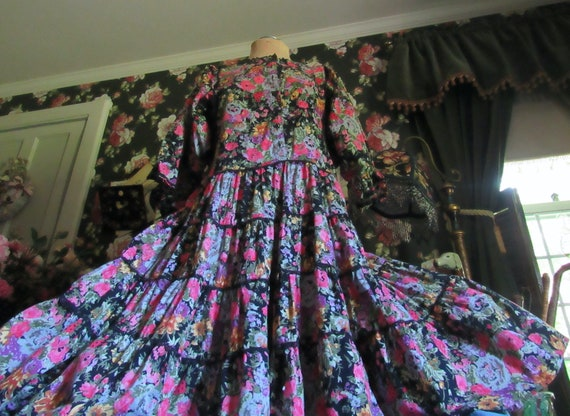 Slouchy Vintage Hippie Starina Oversized Tiered D… - image 10