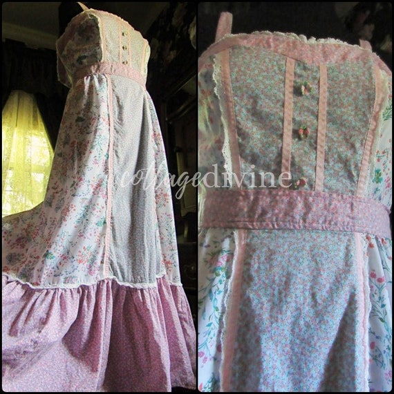Patchwork Pink Calico Vintage Gunne Style 1970s P… - image 1