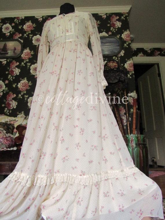 Secret Rose GUNNE SAX Lace Corset Style Vintage 1… - image 7