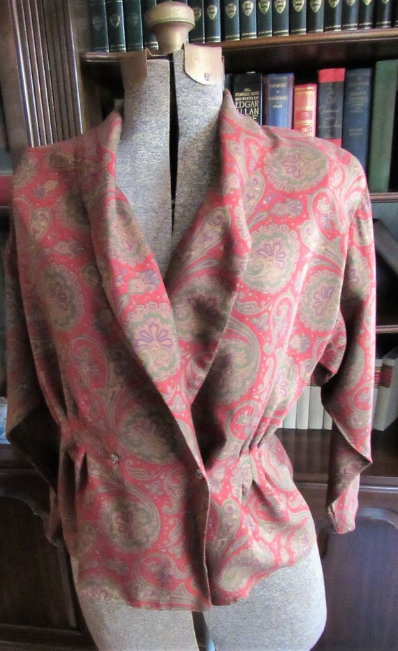 Vintage Preppy Paisley Ralph Lauren Blue Label 198