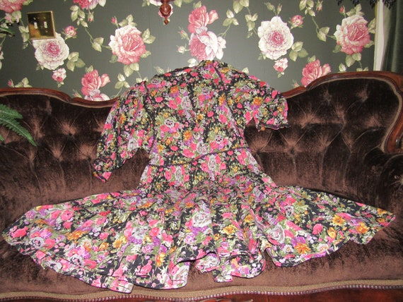 Slouchy Vintage Hippie Starina Oversized Tiered D… - image 2