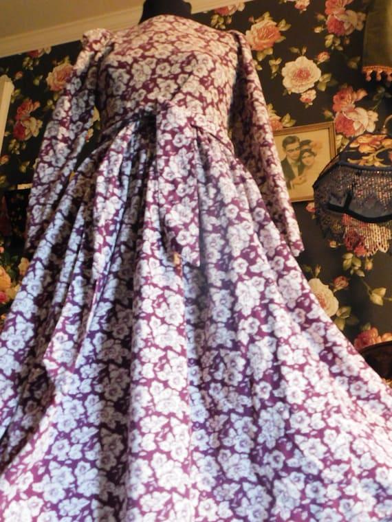 Stunning Vintage Laura Ashley maxi dress elegant romantic soft lavender pure silk
