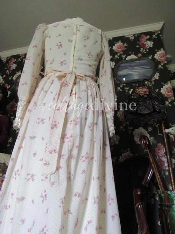 Secret Rose GUNNE SAX Lace Corset Style Vintage 1… - image 9