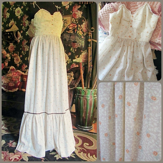 Old Fashioned Mocha Rose Gunne Sax Style Vintage 1