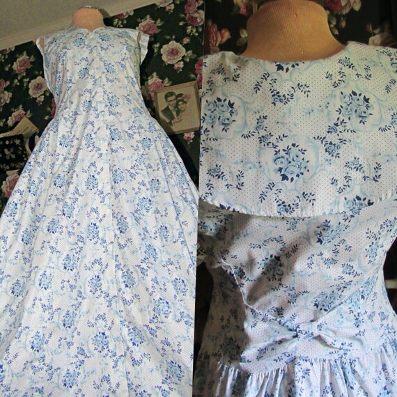 Gunne Sax Laura Ashley Style Vintage Prairie Dress