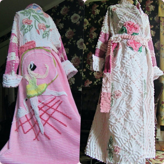 The Ballet Dancer Vintage Chenille Bedspread Robe