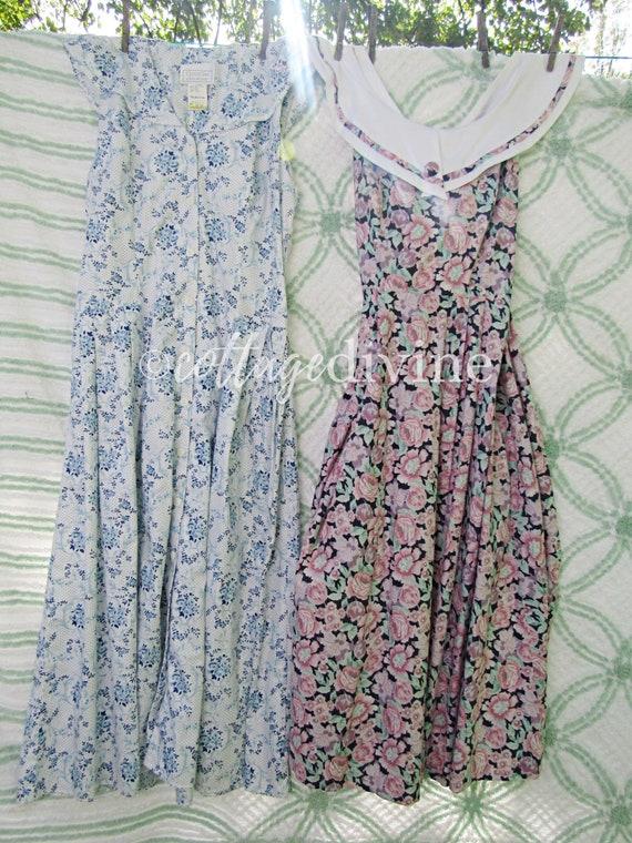 Vintage Laura Ashley & Gunne Sax Dress LOT 2 Engli