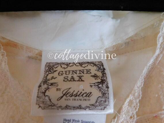 Secret Rose GUNNE SAX Lace Corset Style Vintage 1… - image 10