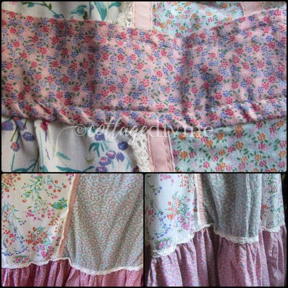 Patchwork Pink Calico Vintage Gunne Style 1970s P… - image 4