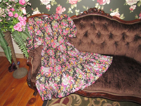 Slouchy Vintage Hippie Starina Oversized Tiered D… - image 6