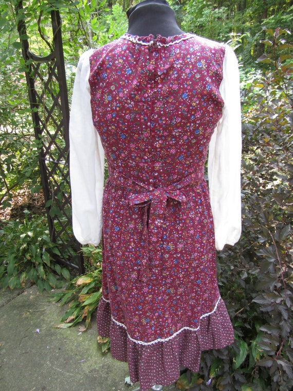 Autumn Fairy Gunne Sax Style Vintage 1970s Calico… - image 5