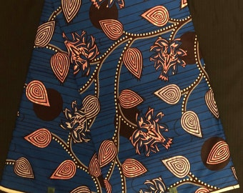 wholesale available burgundy blue Bogolan orange abstract African Print Fabric