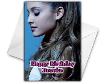 Personalised birthday card ariana grande fille petite soeur un