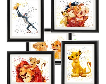 Vintage Decoration /& Design QUALITY Poster.Wild LION.Room Art Decor.309