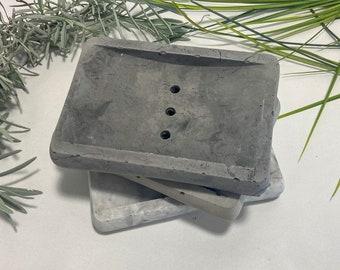 Concrete Soap Dish,Soap Tray, Draining Soap Holder, Cement, Modern Soap Dish, Bathroom Accessories, Minimalist design