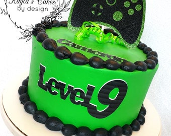 Awesome Video Game Cake Etsy Funny Birthday Cards Online Drosicarndamsfinfo