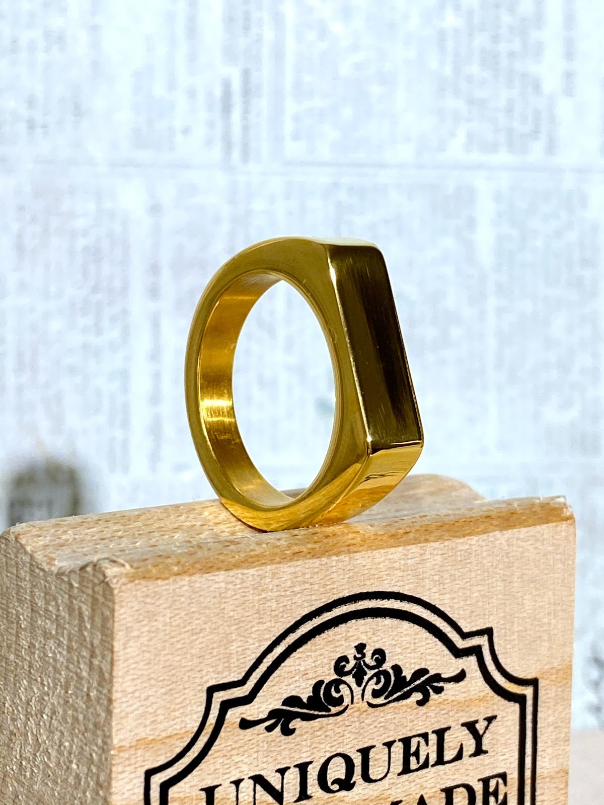14k Gold 5X layered steel Unisex Ring Sizes 8 to 10  Warranty Gift for him Gift for her Ring Dollar Men/'s Women Designer Band Ring
