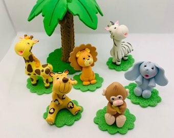 Safari Cake Topper Set