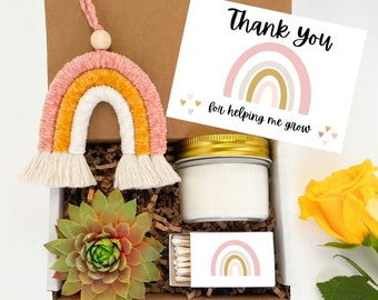 Teacher gift - plant gift for teacher - appreciation gift box for teacher - unique gift for teacher - succulent gift box - teacher gift spa