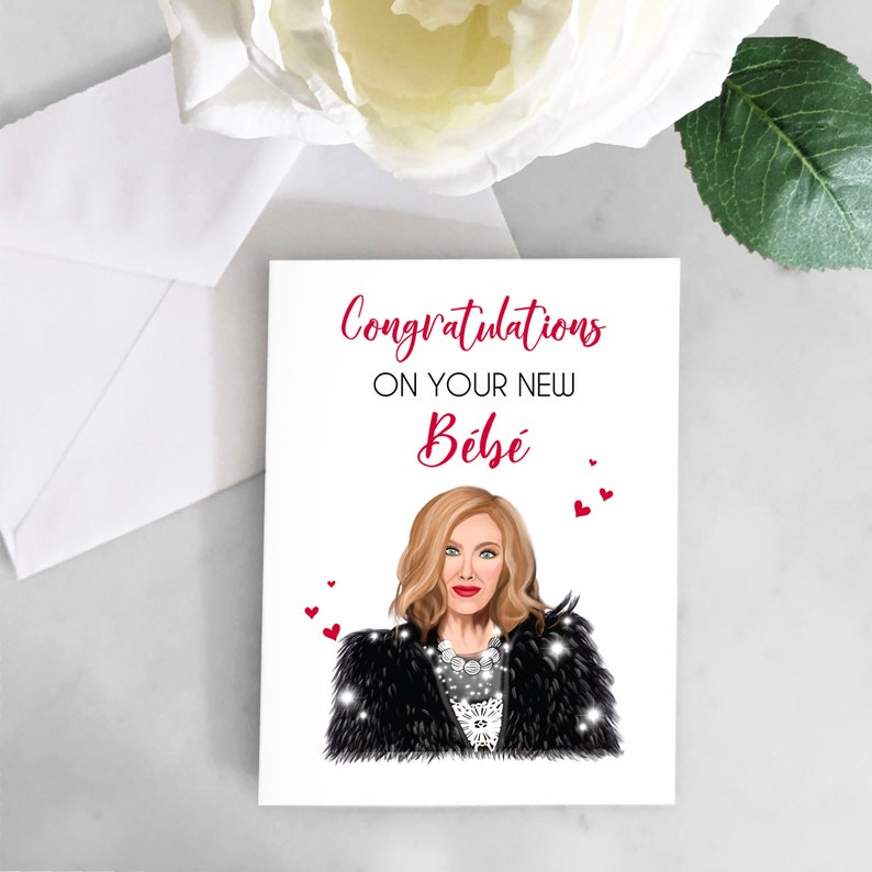 Schitts Creek Baby Card Moira Rose Bebe Card Funny Baby shower card Congratulations on New Baby Card Moira Rose Card Schitts Creek Baby