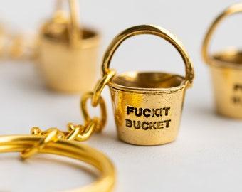 Gold Fuckit Bucket™ | Unique Keychain | Holiday Gift | Xmas
