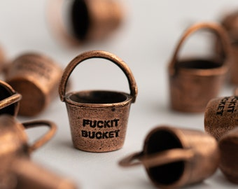 Copper Fuckit Bucket™ Charm or Necklace, Unique Gift