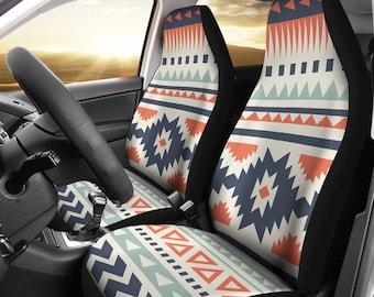 Deeprinter Aztec Elephant Universal Car Front Seat Covers Colorful Car Interior Decor Colorful