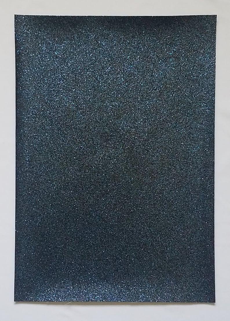 Fine glitterNavy glitter sheets21x30 cmDark blue glitter fabricGlitter fabric sheet