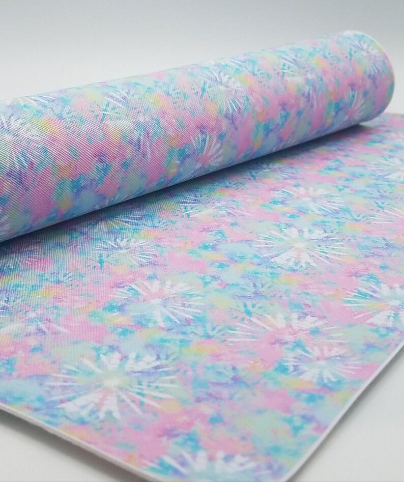 Tie dye explostion/Pastel swirl/Faux leather/20x34 image 0
