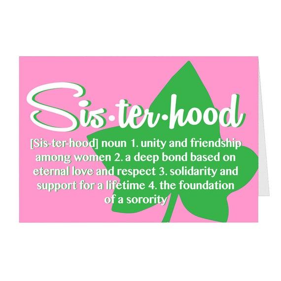 Ivy Folded Welcome to Sisterhood Greeting Card Alpha Kappa Alpha inspired Greeting card Sorority Sisterhood
