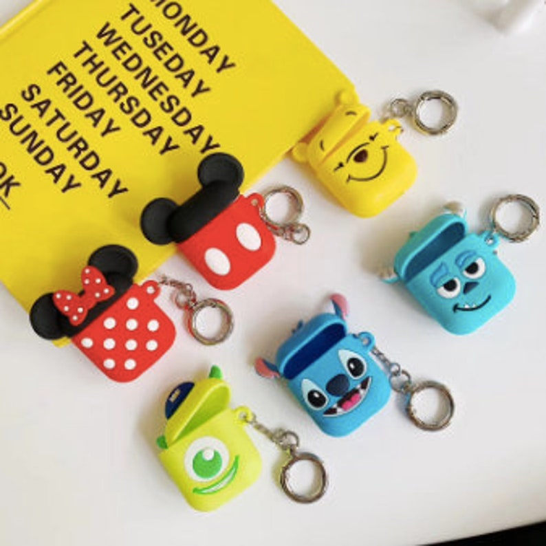 Cute DISNEY AirPods Case with Keychain Airpods Personalized  image 0
