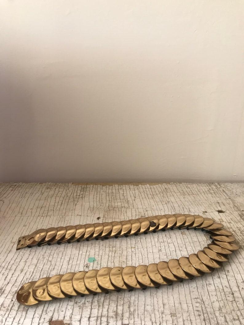 Gold Snake-like Belt Elastic Decorative Fun Belt Vintage Golden 80/'s Belt