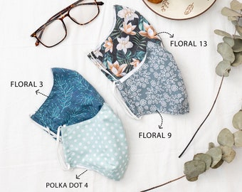Face mask with filter pocket in Canada – Machine washable fabric mask – Two layer mask – Bulk quantity available