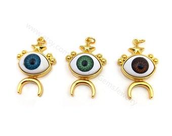 5pcs Evil Eye Star Pendant, Evil Eye Pendant, Good Luck Charms, Evil Eye Jewelry, Turkish Evil Eye, Talisman Jewelry, Gold Evil Eye Y138