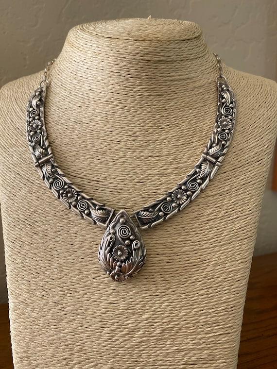 Intricate Navajo Sterling Silver Squash Blossom Fo