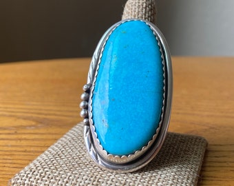 Exceptional, Large Navajo Turquoise Ring