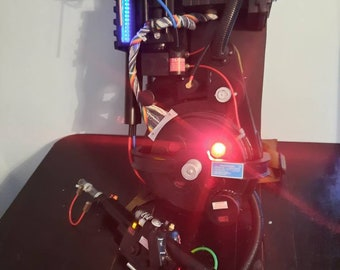Full Size GHOSTBUSTERS Proton Pack and wand with lights Runs off a 9 VOLT Battery Made to order 6 to 8 weeks