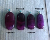 Purple pendant, fused glass