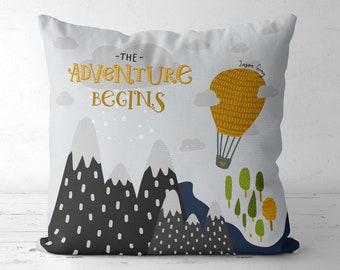 Italia Hot Air Balloon Printed Fabric Panel Make A Cushion Upholstery Craft