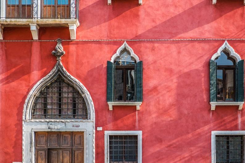 Venice Red Metal Print Italy Prints Fine Art Print Home image 0