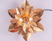 Flower lamp, metal lamp, copper, brass. Hammered lamp. Steampunk lighting. Victorian. Unique.