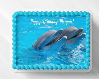 Excellent Dolphin Cake Topper Etsy Funny Birthday Cards Online Alyptdamsfinfo