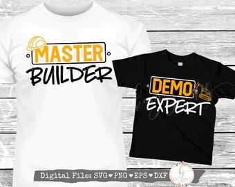 Dad & Son / Master Builder SVG / Demo Expert SvG / Father's Day SVG / Digital Cut File