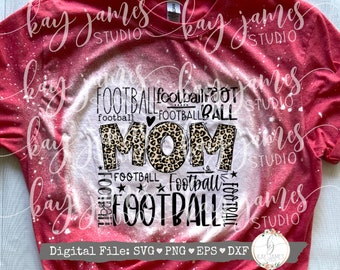 Football Mom Typography SVG / Typography SVG / School Spirit Shirt / Digital Cut File