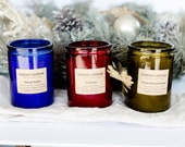 WINTER COLLECTION scents bundle | 3 Soy Wax Candles | Colorful jars | Gift Bundle | Curious Candles