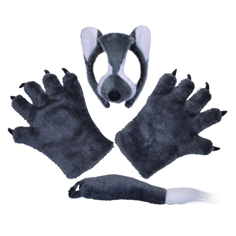 Wolf Dressing Up Set One Size Kids Accessory