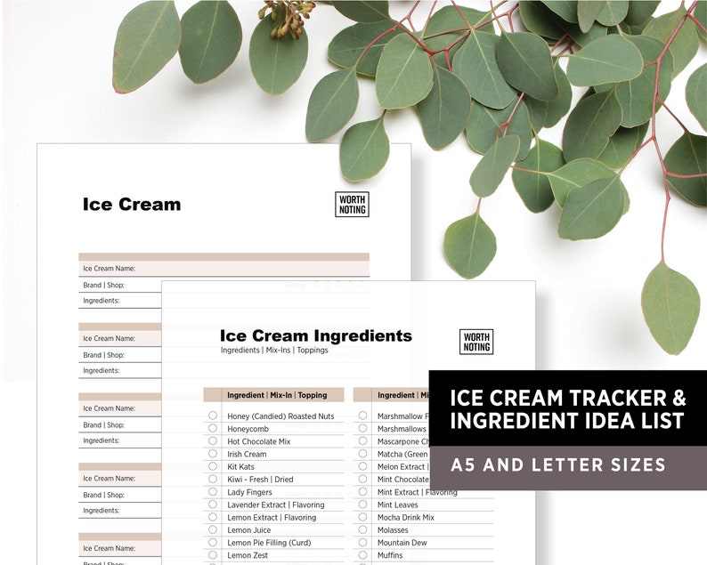 Ultimate Ice Cream List 300 Ingredients Toppings & Mix-ins image 1