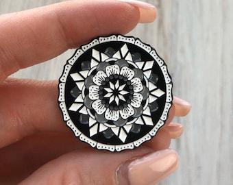 Mandala Acrylic Pin