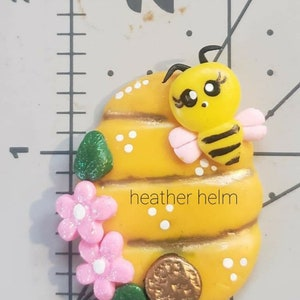 Polymer clay sleepy SUN center to match outfit Summer fun bright Flatback for bow center necklace charm scrapbooking fun in the sun